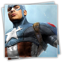 treino com capitão america